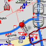 Screenshot OSM-Karte auf Garmin Dakota 20